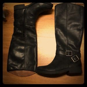 Black leather Knee High Lucky Brand Boots